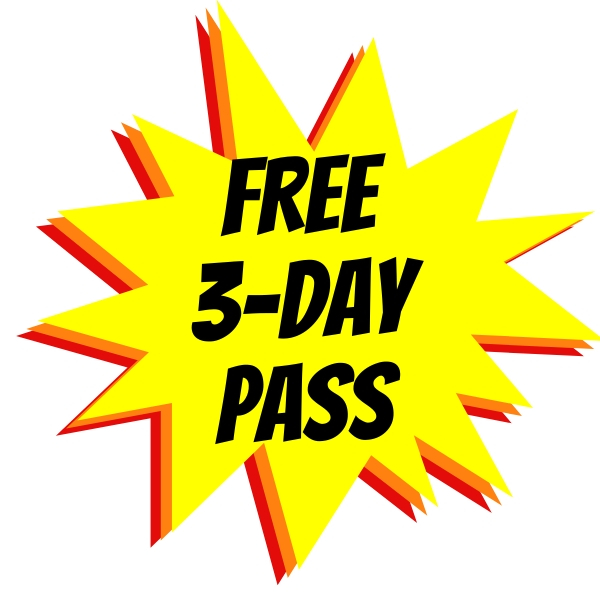 free 3 day trial membership