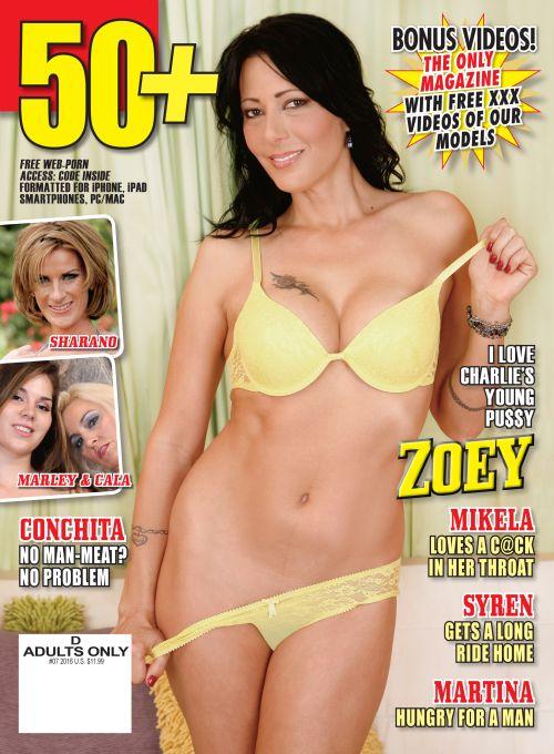 Mature 50+ ladies in this free porn magazine