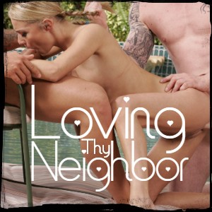 Loving Thy neighbor 4some sexy pool