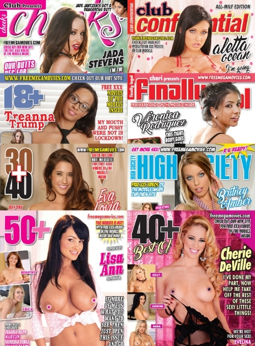 October 2020 bundle pack of 8 hardcore magazines with tons of XXX videos