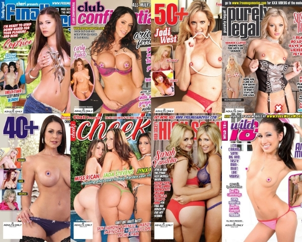 April 2021 hardcore magazines with XXX videos