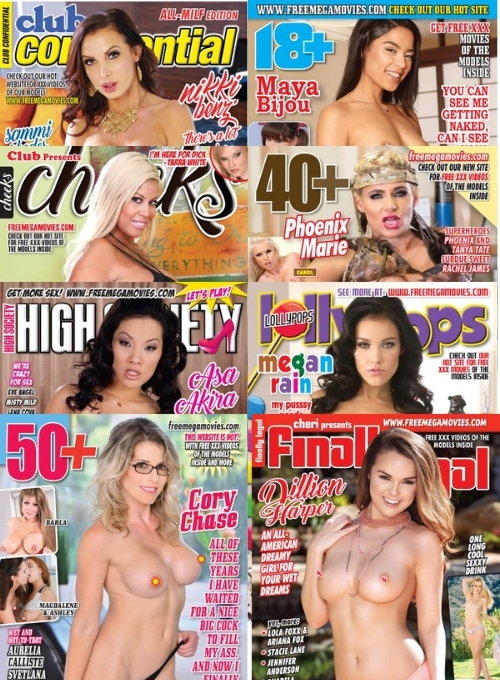 october 2021 bundle pack 8 adult hardcore porn magazines with xxx videos